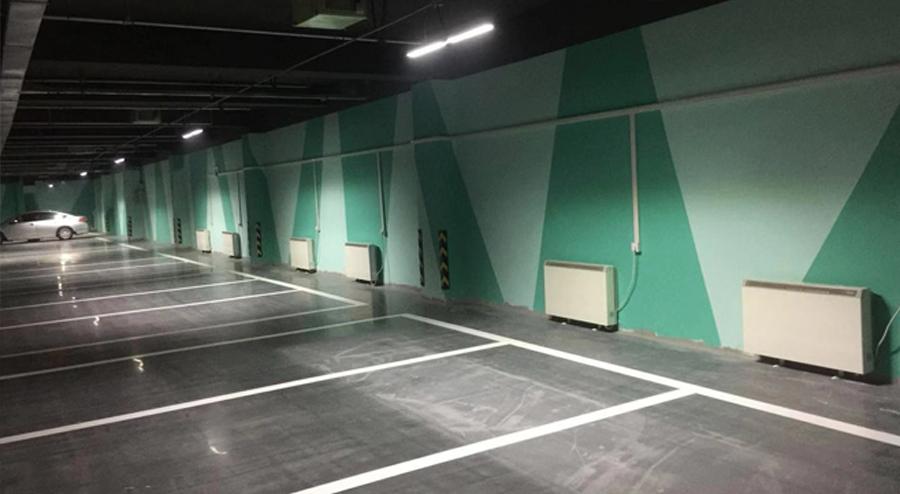 哈尔滨市外滩首府地下停车场